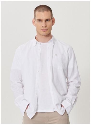 Wrangler Wrangler W211841100_Uzun Kollu Gömlek  Beyaz